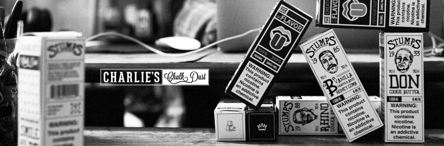 Charlies Chalk Dust E-liquid New Stumps and Creator of Flavor