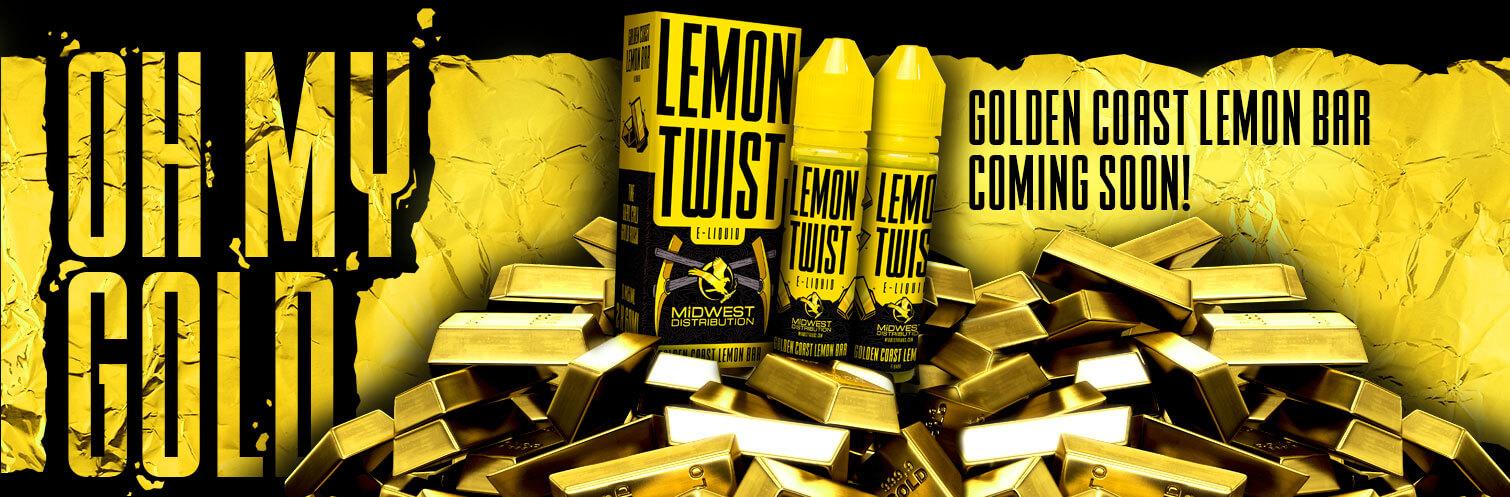 Golden Coast Lemon Bar 120ml E-liquid by Lemon Twist