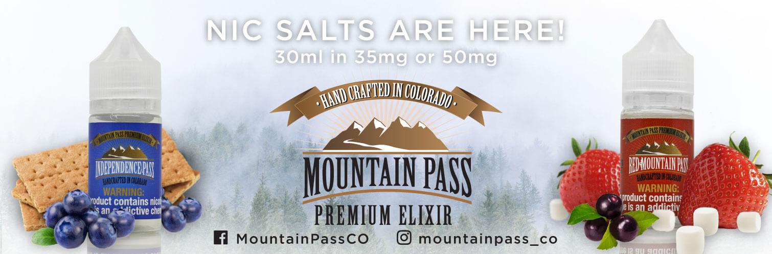 Mountain Pass Premium Nic Salt E-liquid 30ml