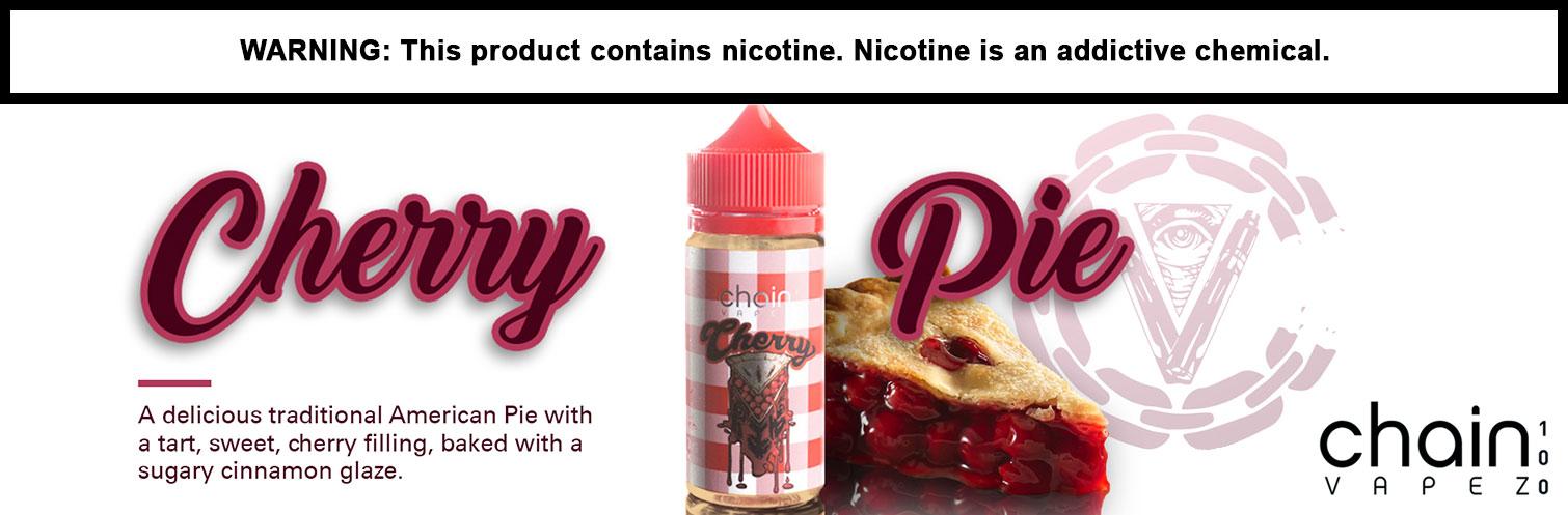 New Cherry Pie E-liquid 100ml by Chain Vapez